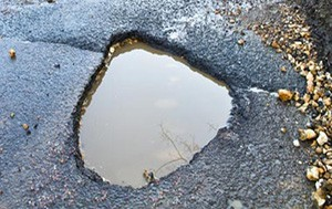 Pothole on Pavement
